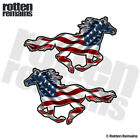 American Horse Decal SET USA United States Flag Mustang Sticker EMV