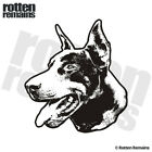 Doberman Pinscher Dog Decal Pet Kennel Vinyl Car Truck Sticker (LH) EMV