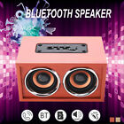 Retro Wooden Subwoofer Wireless Bluetooth Speaker HIFI Stereo Bass Four Speakers