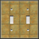 Metal Switch Plate Cover Faux Finish Design Industrial Steampunk Decor Copper 05