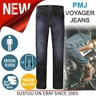 PMJ Voyager Motorcycle Mens Short Leg Jeans│EN 13595-2/4 Tested│100% TWARON│Blue
