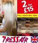 Short and Long Blonde Red Clip in Hair Extensions 8pcs 18 clips Sexy Curly Brown