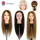 Neverland 100% Real Human Hair Training Practice Head Styling Mannequin +Clamp