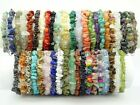 Natural Gemstone 5-8mm Chip Beads Stretchy Bracelet Healing Reiki Chakra image