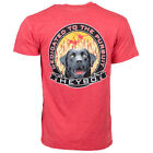 Heybo Lab Circle SS Cardinal Heather T-Shirt CHOOSE YOUR SIZE