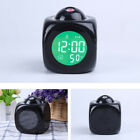 Home Digital Alarm Clock Multifunction With Voice LED Projection Temperature DIY