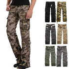 Mens Loose Multi-Pocket Military Camo Pants Casual Straight Overalls Trousers 40