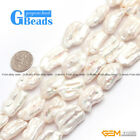 Beauty Biwa 12-15x15-20mm Freshwater Pearl Jewelry Making Gemstone Beads 15""
