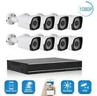 8CH AHD 1080P CCTV Camera Security System 1080N Outdoor Night Vision DVR 4TB CO
