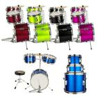 5 Colors 3 Piece Complete Junior Drum Set Cymbals Child Kids Kit 13'x8'