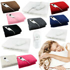 'Electric Heated Throw Over Under Blanket Washable Polyester Cozy Warm Mattress