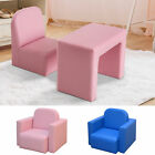 2-in-1 Kids Table & Sofa Chair Set Toddler Seat Armchair Desk Children Lounge