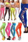 Women's Skinny Candy Color Leggings Stretchy Sexy Slim Hole