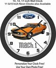 1970 FORD MUSTANG MACH 1 WALL CLOCK-FREE USA SHIP!-Other colors available