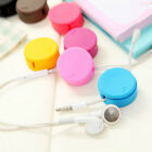Earphone Earbud Headphone Cable Cord Winder Organizer Wrap Holder Screen Cleaner