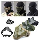 Mesh Tactical Airsoft Half Face Steel Metal Mask Army Face Cover Protective Gear