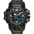 Men's LED Tactical Sport Digital Alarm Waterproof Stopwatch Military Wrist Watch image
