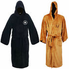 Star Wars Jedi Sith Soft Fleece Hooded Bathrobe Black Bath Robe Cloak Cape -FZ