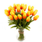 10X Tulip Rose Artificial Flower Latex Real Wedding Bouquet Home Decor us