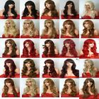 Ladies Women Long Hair Full Wig Natural Curly Wavy Synthetic Hair Wigs Sty-D
