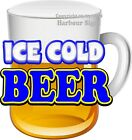 Ice Cold Beer DECAL (CHOOSE YOUR SIZE) Drinks Truck Concession Sticker