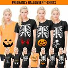 Halloween Pregnancy T-Shirt Ladies Maternity Top Funny Print Costume Outfit L347