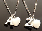 Personalised Initial Necklace With Heart Pendant And Silver Plated Letter