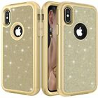 For iPhone XS X 7 8 Plus Luxury Bling Glitter Protective Hard Phone Case Cover