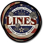 Lines Family Name Drink Coasters - 4pcs - Wine Beer Coffee & Bar Designs