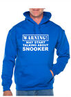 Warning May Talk About Snooker Birthday Present Funny Gift Unisex Hoodie $22.16 USD on eBay