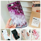 For iPhone XS 8 7 Plus Case Marble Reflective Design Shockproof Protective Cover