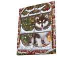 Christmas Alaskan Malamute Dog Sitting In Window Blanket BLNKT53760