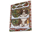 Please Come Home Christmas Border Collie Dog Sitting Window Blanket BLNKT53787