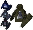 Boys Tracksuit Camo Jumper Kids Hoodie And Joggers Slogan Set 2PSC Age 1 - 6 Yrs