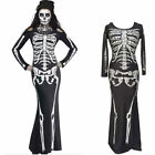 Sexy Women Party Cosplay Skeleton Halloween Costume Couple Fancy Dress