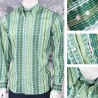 Get Up Retro Loud Lairy Bold Crazy Party Holiday Patterned Shirt Green