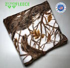 "ZooFleece Blanket Brown Trees Snow White Camo Hunting 60X60"" Linen Throw Quilt  image"