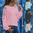 Women Spring and Autumn Large Size Loose Lace Solid Color Long Sleeve T-Shirt