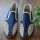 Mens Slip On Loafer Gommino Woven Comfort Oxford Breathable Creepers Shoes 2019