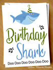 Funny Birthday Shark Comical Card Mum Dad Doo Doo Doo Brother Sister Annoying