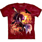 Indian Collage T-Shirt, Indian Sunset, Unisex, The Mountain, Native American