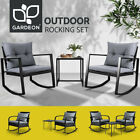 Gardeon Rocking Chairs Chair Table Outdoor Furniture Wicker Lounge Recliner