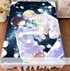 Anime BANANA FISH Otaku Double-bed Bed Sheet FLANNEL Blanket Coverlets Gift #3