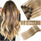 Very Thick Clip In 100% Remy Human Hair Extensions 8 Pieces Double Weft Seamless