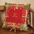 """Christmas Present Decorative Pillow Red 18"""" Square"""