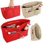 Portable Felt Fabric Purse Case Handbag Organizer Bag W/ Multi Pocket Insert