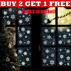38pcs Christmas Snow Flake Removable Vinyl Window Door Stickers Wall Decor Decal