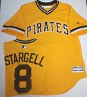 WILLIE STARGELL PIRATES GOLD JERSEY NEW MENS LARGE MAJESTIC