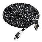 Micro USB fits SAMSUNG Galaxy FAST Charging Cable Lead Flat Fabric Braided Data