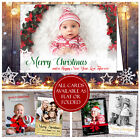 10 Personalised Photo Christmas Cards Flat Postcards Folded With Envelopes Baby